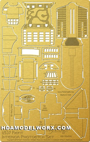 1:537 Refit Interior Photoetch Set by Paragrafix