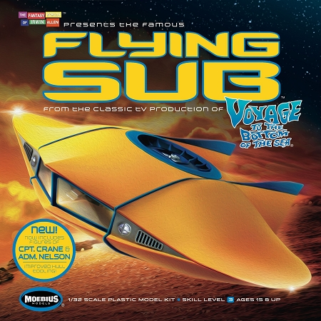 FLYING SUB from Voyage to the Bottom of the Sea 1:32 Scale. Revised Tooling