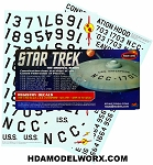 TOS Constitution Class Registry Starship Decals 1:350 Scale from Polar Lights