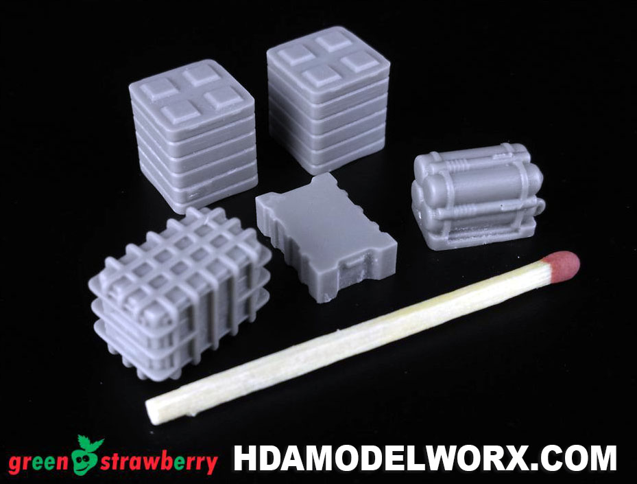 Hangar Equipment Vol. 4 1:72 Scale Resin Accessories Kit by GREEN STRAWBERRY