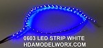 LED 0603 STRIP BLUE (72 LEDs) 0.5m 3-3.3vdc UPDATED! Now with power connectors soldered at both ends!
