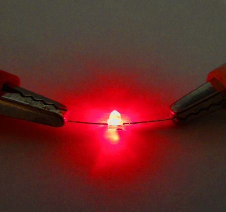 1.5mm Red Butterfly LED Round Top TEN Pack With Resistors for 12v