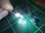 2mm White Lighthouse LED TEN Pack With Resistors for 12v