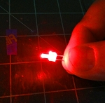 2mm Red Lighthouse LED TEN Pack With Resistors for 12v