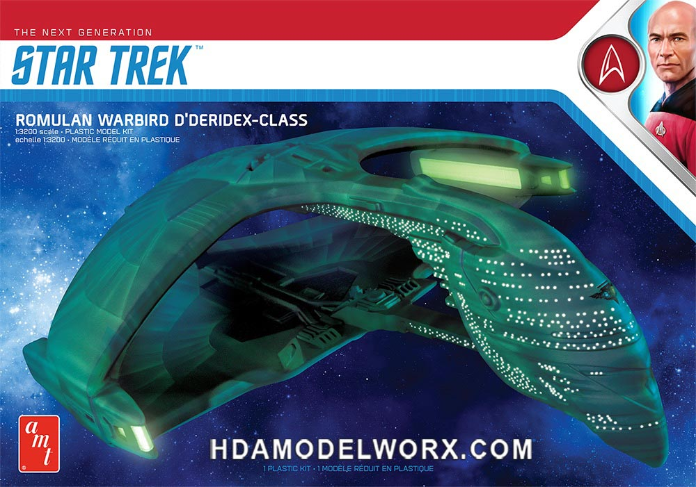 Star Trek the Next Generation ROMULAN WARBIRD D'DERIDEX CLASS 1:3200 Scale Model Kit  by AMT