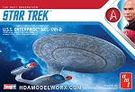 Star Trek the Next Generation USS ENTERPRISE NCC-1701-D 1:2500 Scale Model Kit  by AMT