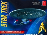 LIMITED QUANTITY Star Trek The Next Generation USS ENTERPRISE NCC-1701-D 1:1400 Scale CLEAR EDITION Model Kit by AMT/Round2 OUT OF PRODUCTION