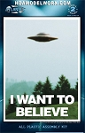 I Want To Believe Billy Meier UFO 5 inch series with Light Model Kit by Atlantis Models