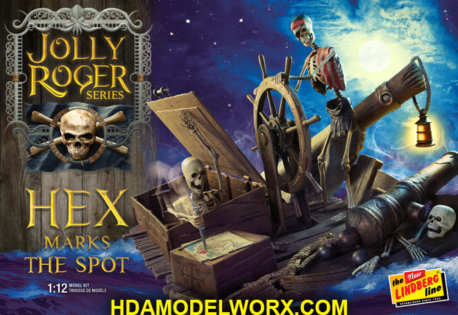 Jolly Roger Series: HEX MARKS THE SPOT 1:12th SCALE Model Kit by Lindberg