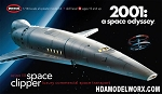 2001 Space Clipper Orion 1/144 Scale Model Kit by Moebius Models