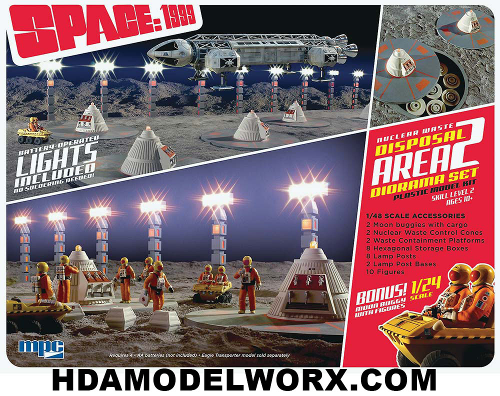 SPACE:1999 Nuclear Waste Disposal Area 2 Diorama Set 1/48 Scale by MPC