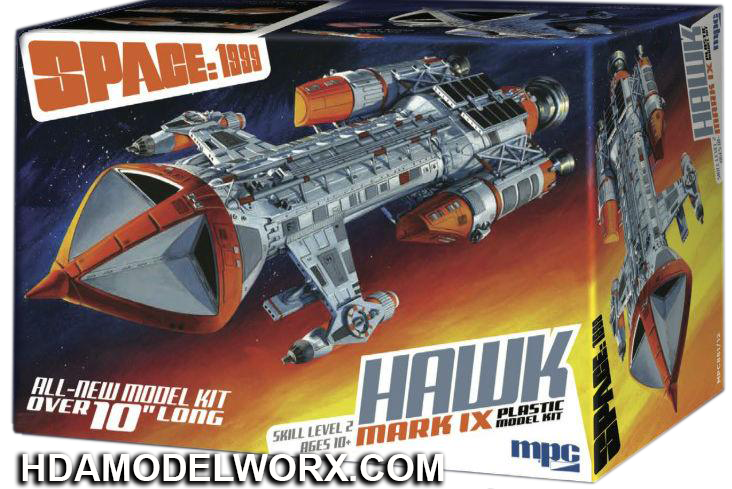 SPACE:1999 HAWK MARK IX 1:72 Scale Model Kit by MPC