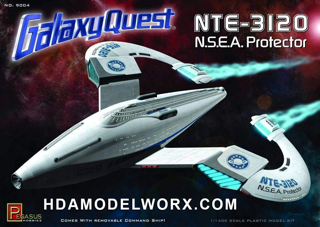 GALAXY QUEST NTE-3120 N.S.E.A. PROTECTOR 1/1400 Scale Model Kit by Pegasus Hobbies