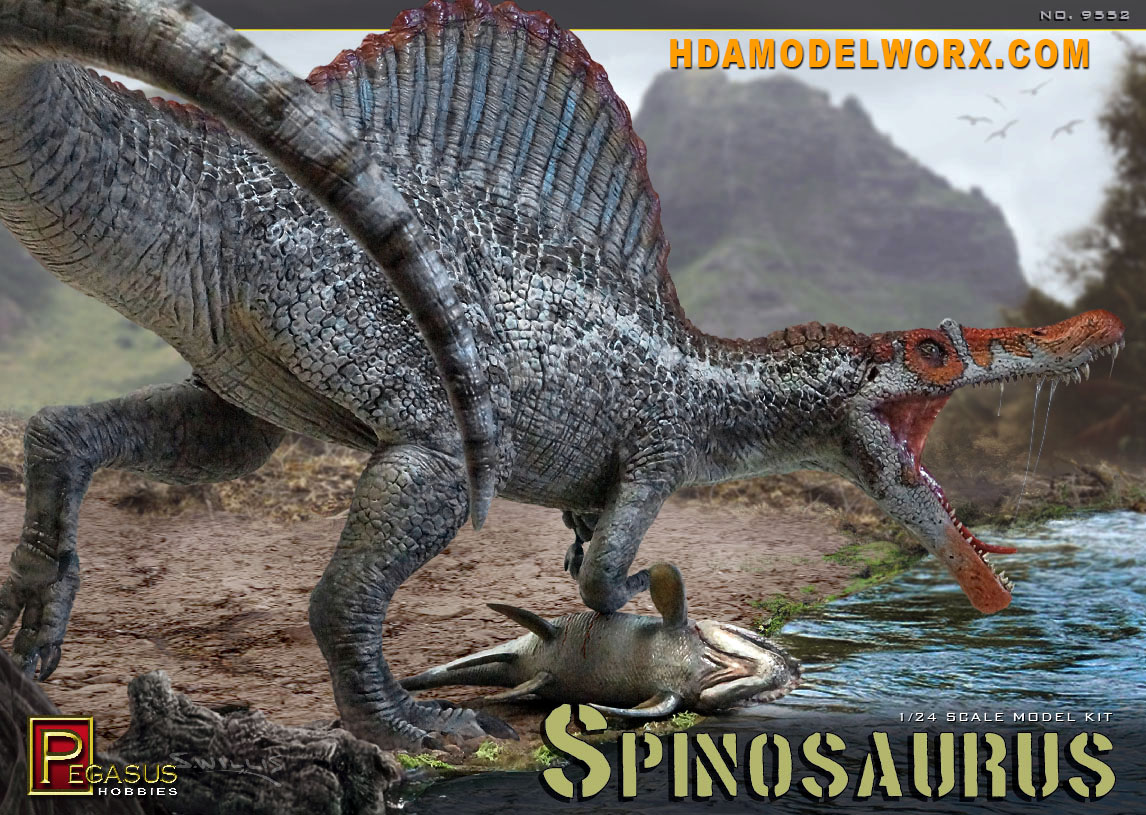 Spinosaurus 1/24th scale Model Kit by Pegasus Hobbies