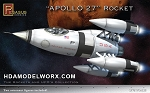 APOLLO 27 ROCKET 1/72 Scale Model Kit by Pegasus Hobbies