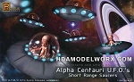 ALPHA CENTAURI UFO's SHORT RANGE SAUCERS 1/32 Scale Model Kit by Pegasus Hobbies