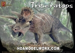 Triceratops 1/24th scale Model Kit by Pegasus Hobbies