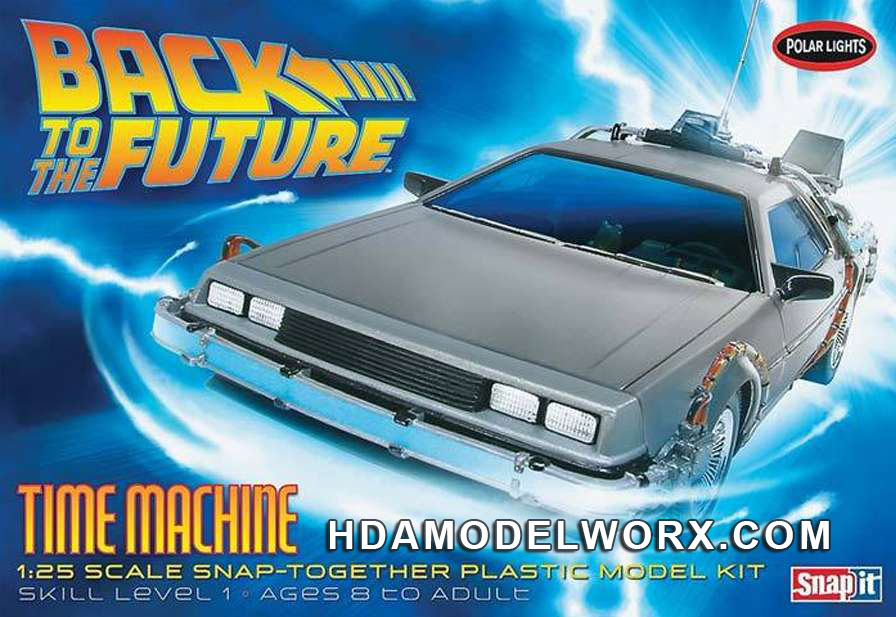 Back to the Future TIME MACHINE 1:25 Scale Model Kit by Polar Lights