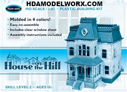 HOUSE ON THE HILL (Psycho) 1:87 (HO) Scale Model Kit from Polar Lights