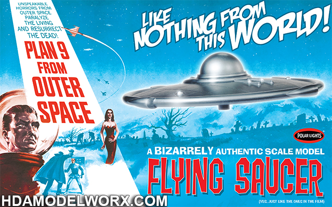 Plan 9 From Outer Space Flying Saucer Plastic Model Kit by Polar Lights