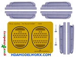 TOS ENTERPRISE WARP NACELLES RESIN AND PHOTOETCH DETAIL SET for the REVELL GERMANY 1:600 Scale Model kit (#04880) by GREEN STRAWBERRY