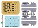 TOS SHUTTLE TYPE F RESIN, PHOTOETCH AND DECAL DETAIL SET for the REVELL GERMANY 1:600 Scale Model kit (#04880) by GREEN STRAWBERRY