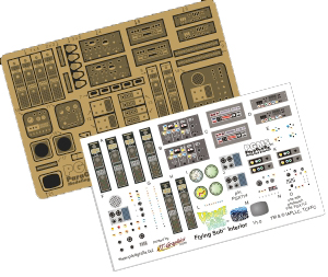 Flying Sub Photoetch and Decal Set for 1:32 Scale Moebius Models Kit