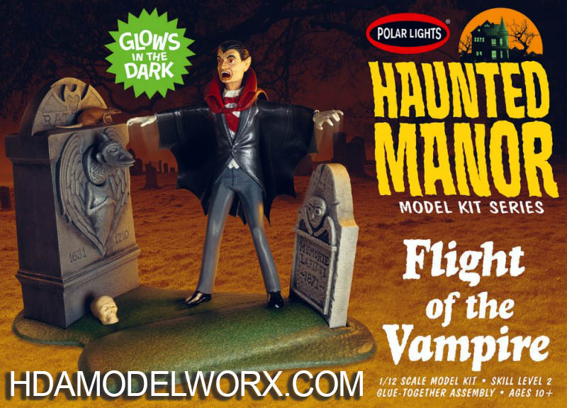 Haunted Manor Model Kit Series FLIGHT OF THE VAMPIRE 1/12 SCALE MODEL KIT by Polar Lights