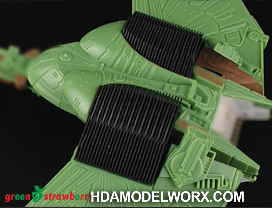 Klingon Bird of Prey - B´Rel Class - Radiators Moving Parts for the AMT 350 Scale Model kit Kit by GREEN STRAWBERRY