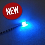 5 PACK 1206 SMD BLUE Pre-Wired with WIRES and RESISTOR FOR 12v