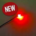 5 PACK 1206 SMD RED Pre-Wired with WIRES and RESISTOR FOR 12v