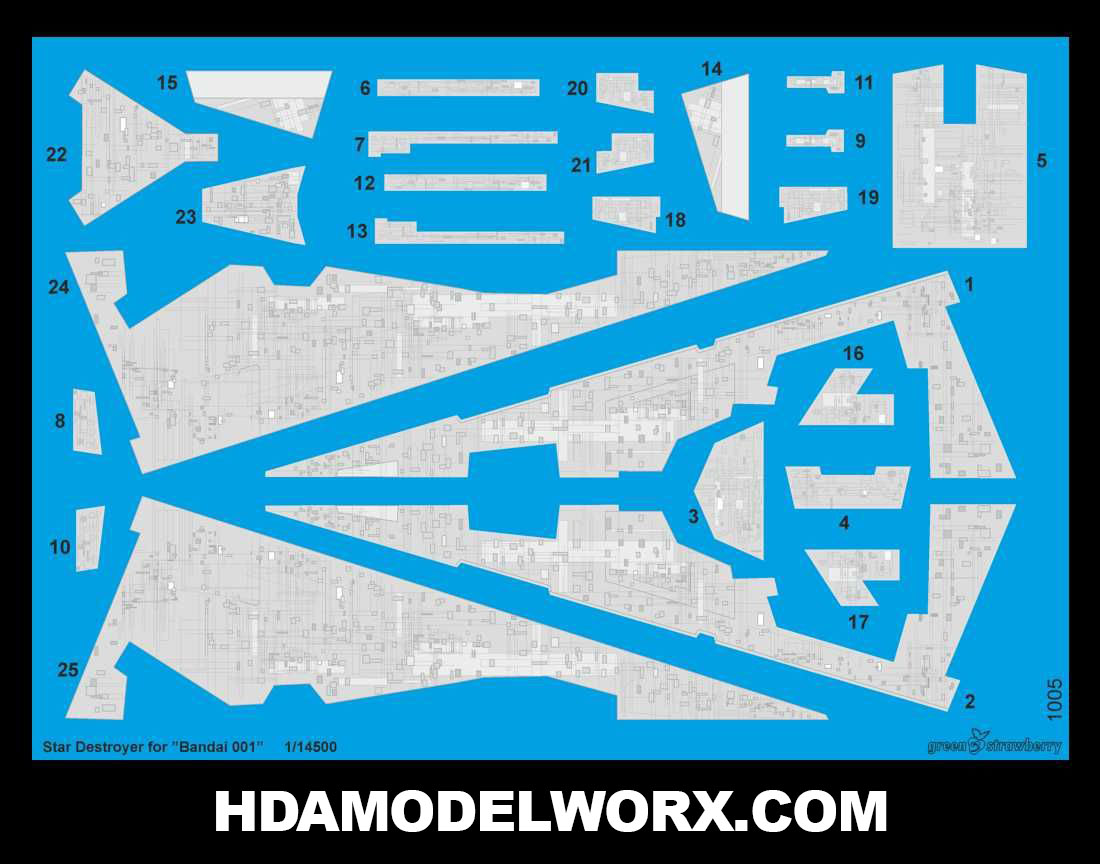 Decals for the Star Destroyer for the BANDAI 001 Model Kit by GREEN STRAWBERRY