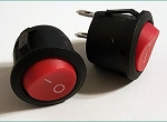 ROUND Red Button On/Off Latching Switch 2 Pack