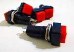 Red Button Square Top Momentary Switch 2 Pack