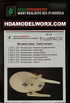 FRUITPACK Miranda Class - Early Version - USS RELIANT - COMES COMPLETE WITH SEVEN individual Green Strawberry Photoetch and Resin Parts for the AMT 537 Scale Model kit by Green Strawberry