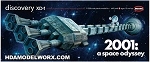 2001 Discovery 1/350 Scale Model Kit by Moebius Models.