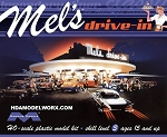 Mel's Drive-In 1/87 HO Scale Model Kit from Moebius Models