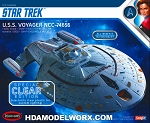 Star Trek USS VOYAGER NCC-74656 CLEAR EDITION 1:1000 SCALE Model Kit by Polar Lights  COMING SOON