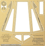 X-Wing Canopy Frames for DeAgostini Kit 1/18 scale Photo-Etch Set by Paragrafix