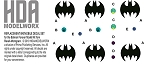 REPLACEMENT BATMOBILE DECAL SET for the Batman Forever model kit from Revell-Monogram by HDAMODELWORX