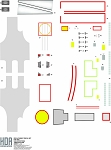 350 SCALE TOS USS ENTERPRISE HULL MARKINGS Decal Set Designed for TREKWORKS by HDAMODELWORX