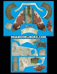 Decals for the Boba Fett's SLAVE 1 BANDAI 1/144 Scale Model Kit by GREEN STRAWBERRY