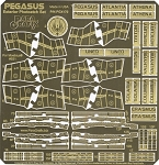 BATTLESTAR PEGASUS EXTERIOR Photoetch Set by Paragrafix for Moebius Models kit 931