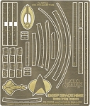 DEEP SPACE NINE WINDOW DRILLING TEMPLATES Photoetch Set by Paragrafix
