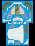 Decals for the Jango Fett's SLAVE 1 BANDAI 1/144 Scale Model Kit by GREEN STRAWBERRY