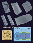 U.S.S. Enterprise NCC-1701-A Hangar Bay Detail Set for the AMT 537 Scale Model Kit by GREEN STRAWBERRY