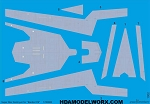 Decals for the SUPER STAR DESTROYER for the BANDAI 016 Model Kit by GREEN STRAWBERRY