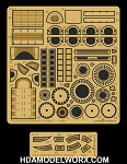 USS KELVIN NCC-0514 Photo Etch Detail Set for the Moebius 1/1000 Scale Model Kit by GREEN STRAWBERRY